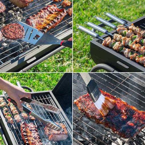 Différents ustensiles pour barbecue